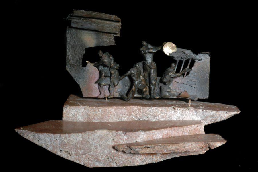 Il tempio della musica verso l'orizzonte roberto giansanti scultore